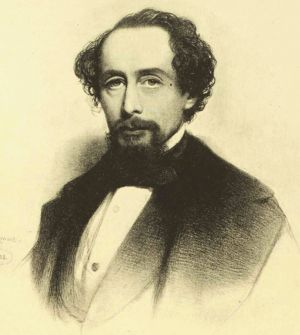 Charles Dickens, 1858, From a black and white drawing by Charles Baugniet, Appreciations and Criticisms of the Works of Charles Dickens, by G. K. Chesterton, Published 1911