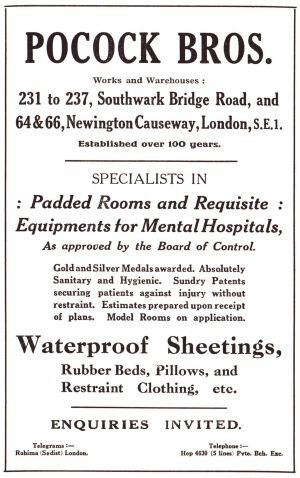 Pocock Bros, Trade Advert circa 1915
