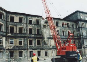 Start of demolition of female block 2