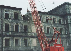Start of demolition of female block 4