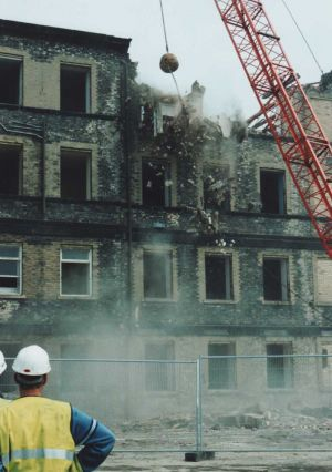 Start of demolition of female block 6