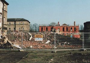 Milton, Maudsley Wards,  The Red Brick Rubble From The  Annexe Of Original Building