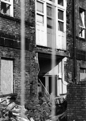 Original Building Showing Annexe During Demolition