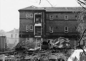 Part Of The Original Building Looking East, Demolished Annexe In Foreground, Meadowside Ward Behind On Left