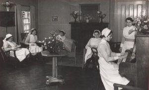 burghill asylum herefordshire recreation room 1942.