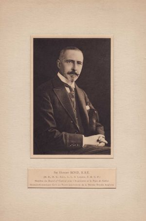 Charles Hubert Bond MB (Edinburgh 1892), BSc (Edinburgh 1893) CBE (1920) KBE (1929)