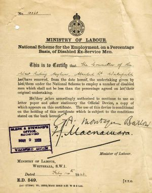 Ministry Of Labour 1923