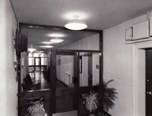 admin office corridor after modernisation 19th october 1965