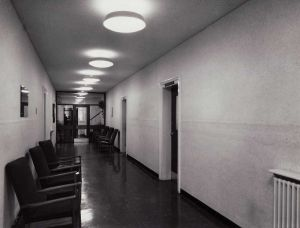 corridor of admin after modernisation 19th October 1965