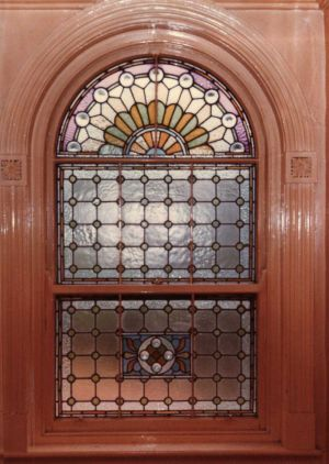 Stained Glass Window Removed On Demolition Now On Display In The Museum