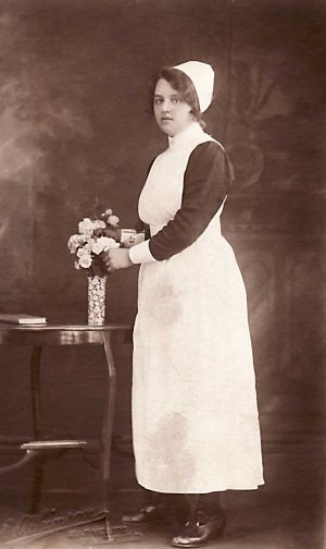 Nurse Popplewell 1924  Stanley Hall Home For Imbecile Boys