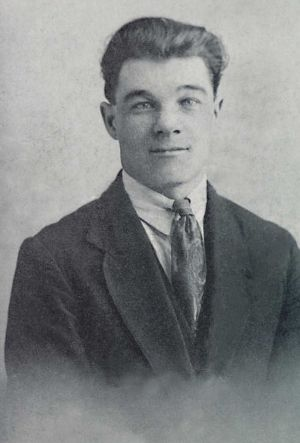 James Beaumont aged 25, a keen Rugby player