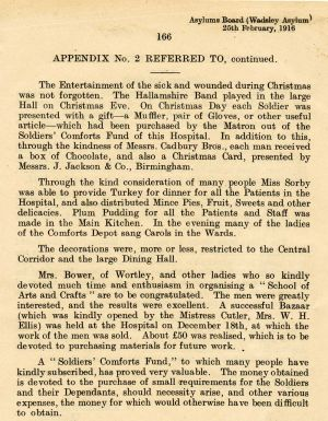 Wadsley Christmas celebrations 1915