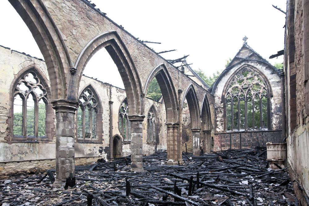 Stanley Royd Hospital Chapel Fire June 18 2012