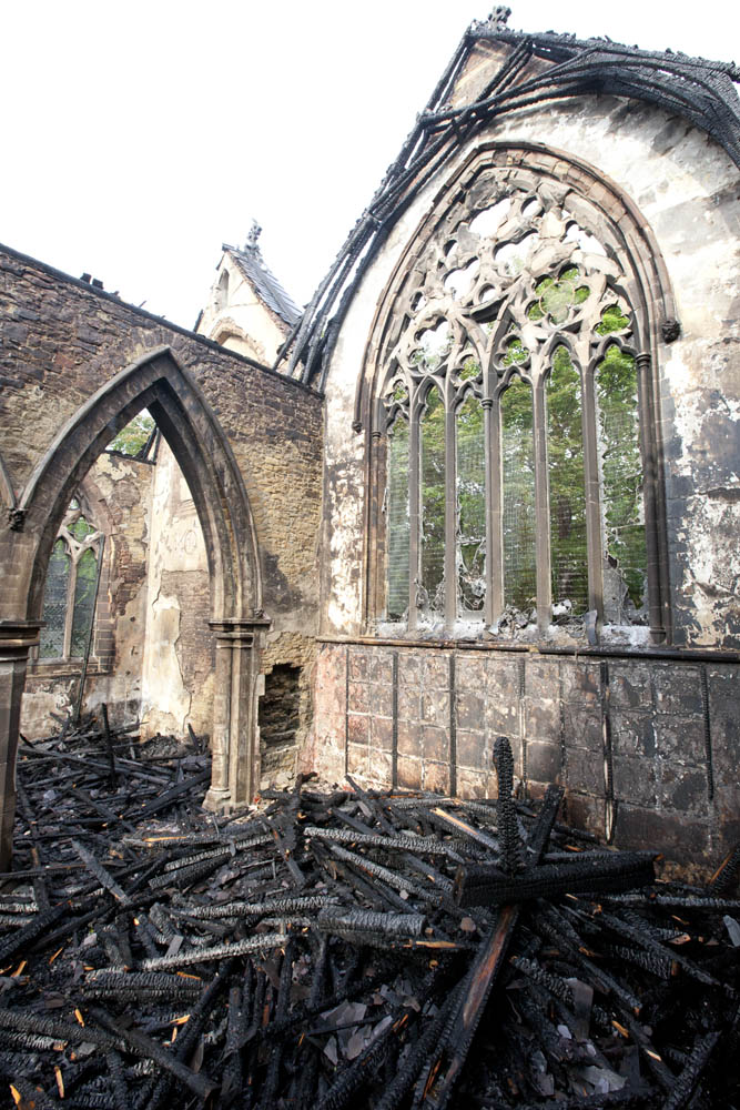 Stanley Royd Hospital Chapel Fire June 18 2012